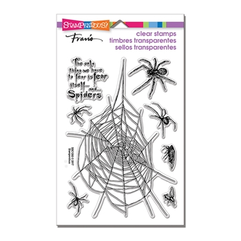 Stampendous Clear Stamps SPIDER FEAR SSC1263
