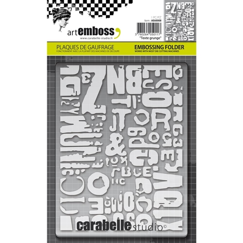 Carabelle Studio TEXTE GRUNGE Embossing Folder AE60008 Preview Image