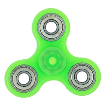 Fidget Spinner GREEN Glow In the Dark Hand Spinners HSFS015