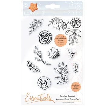 Tonic AUTUMNAL SPRIG 1 Bunched Bouquet Clear Stamp Set 1363E