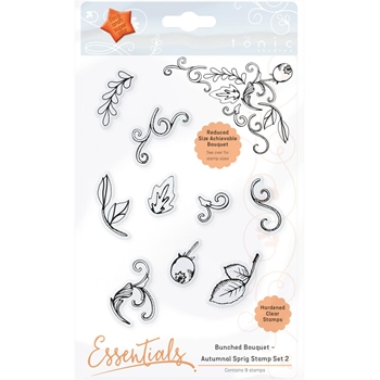 Tonic AUTUMNAL SPRIG 2 Bunched Bouquet Clear Stamp Set 1364E