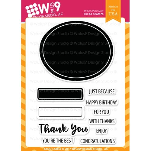 Wplus9 BASIC LABELS Clear Stamps CL-WP9BLBL Preview Image