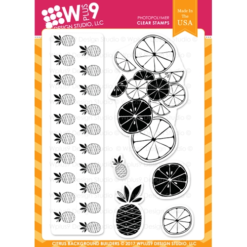 Wplus9 CITRUS BACKGROUND BUILDERS Clear Stamps CL-WP9SBB Preview Image