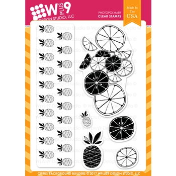 Wplus9 CITRUS BACKGROUND BUILDERS Clear Stamps CL-WP9SBB