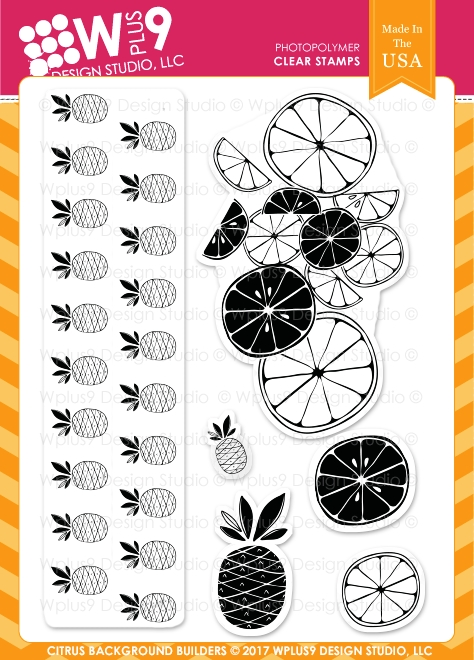 Wplus9 CITRUS BACKGROUND BUILDERS Clear Stamps CL-WP9SBB zoom image