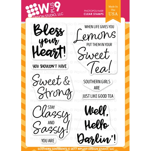 Wplus9 SOUTHERN SENTIMENTS Clear Stamps CL-WP9SOS Preview Image