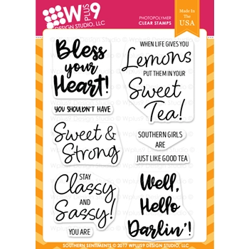 Wplus9 SOUTHERN SENTIMENTS Clear Stamps CL-WP9SOS