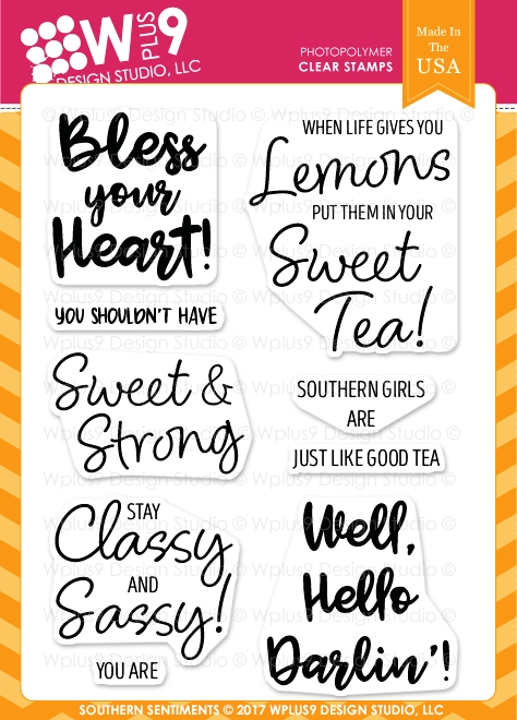 Wplus9 SOUTHERN SENTIMENTS Clear Stamps CL-WP9SOS zoom image
