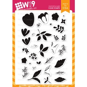 Wplus9 SOUTHERN SUMMER FLORALS 1 Clear Stamps CL-WP9SSF1