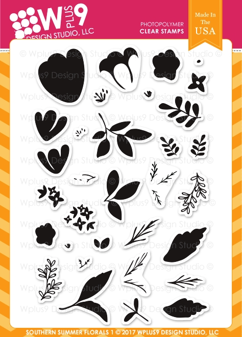 Wplus9 SOUTHERN SUMMER FLORALS 1 Clear Stamps CL-WP9SSF1 zoom image