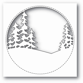 Memory Box STITCHED CIRCLE TREES Craft Die 99843