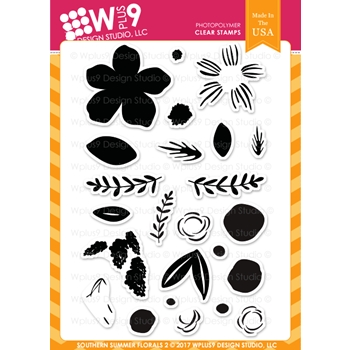 Wplus9 SOUTHERN SUMMER FLORALS 2 Clear Stamps CL-WP9SSF2