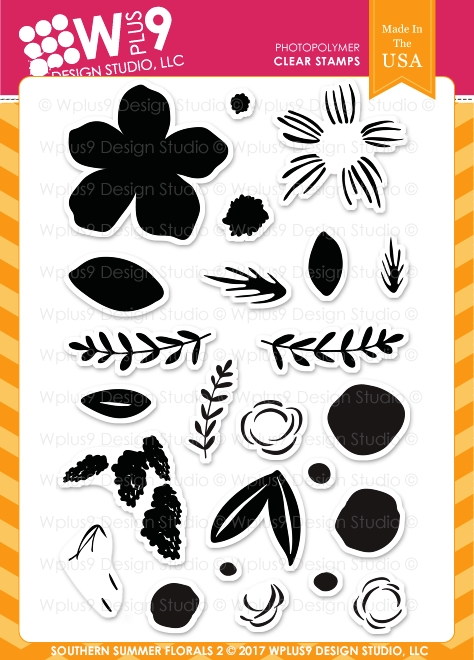 Wplus9 SOUTHERN SUMMER FLORALS 2 Clear Stamps CL-WP9SSF2 zoom image