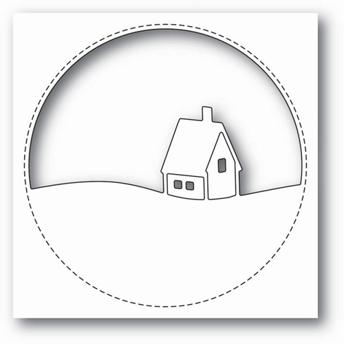 Memory Box STITCHED CIRCLE CABIN Craft Die 99852 Preview Image