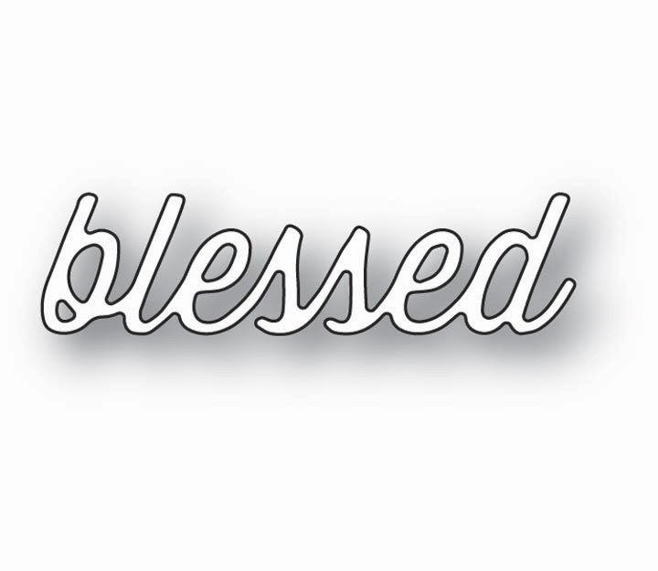 Memory Box BLESSED PERKY SCRIPT 99860 zoom image