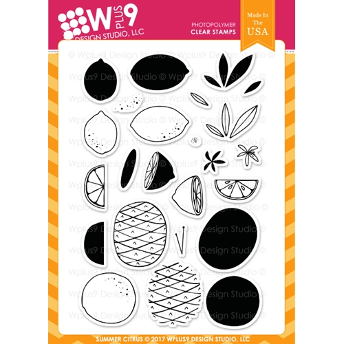 Wplus9 SUMMER CITRUS Clear Stamps CL-WP9SC Preview Image
