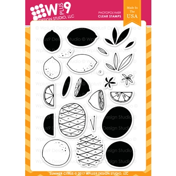 Wplus9 SUMMER CITRUS Clear Stamps CL-WP9SC