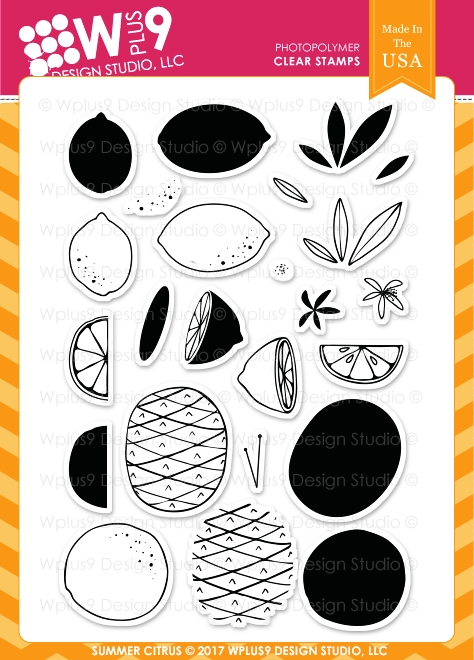 Wplus9 SUMMER CITRUS Clear Stamps CL-WP9SC zoom image