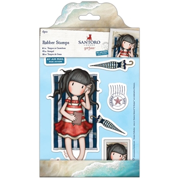 DoCrafts SUMMER DAYS Cling Stamps Gorjuss 907134
