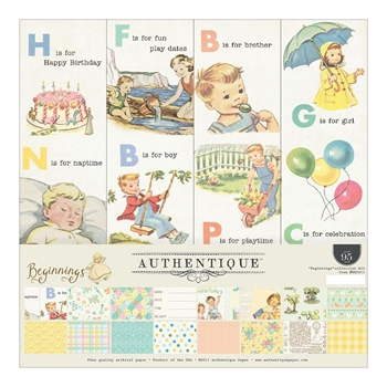Authentique BEGINNINGS 12 x 12 Collection Kit BEG011