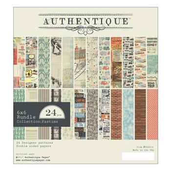 Authentique 6 x 6 PASTIME Paper Pad PAS014