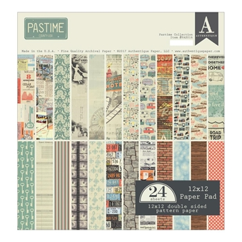 Authentique PASTIME 12 x 12 Paper Pad PAS016