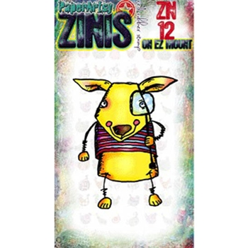 Paper Artsy ZINI 12 Maxi Mini Rubber Cling Stamp ZN12