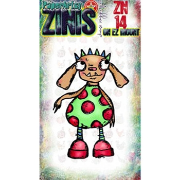 Paper Artsy ZINI 14 Maxi Mini Rubber Cling Stamp ZN14