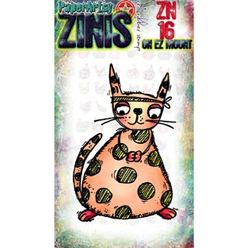 Paper Artsy ZINI 16 Maxi Mini Rubber Cling Stamp ZN16