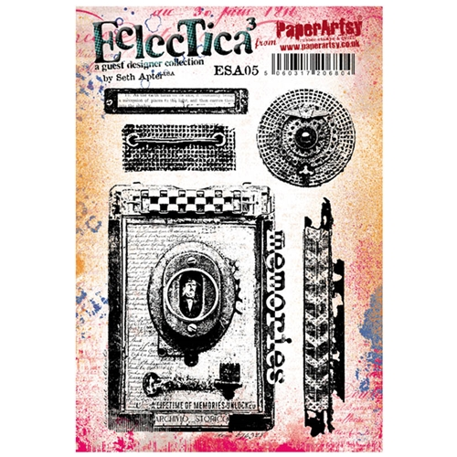 Paper Artsy SETH APTER 06 ECLECTICA3 Rubber Cling Stamp ESA05 Preview Image