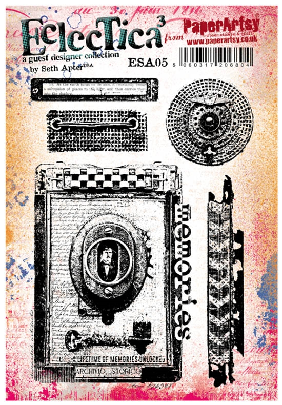 Paper Artsy SETH APTER 06 ECLECTICA3 Rubber Cling Stamp ESA05 zoom image