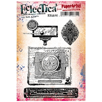 Paper Artsy SETH APTER 06 ECLECTICA3 Rubber Cling Stamp ESA06