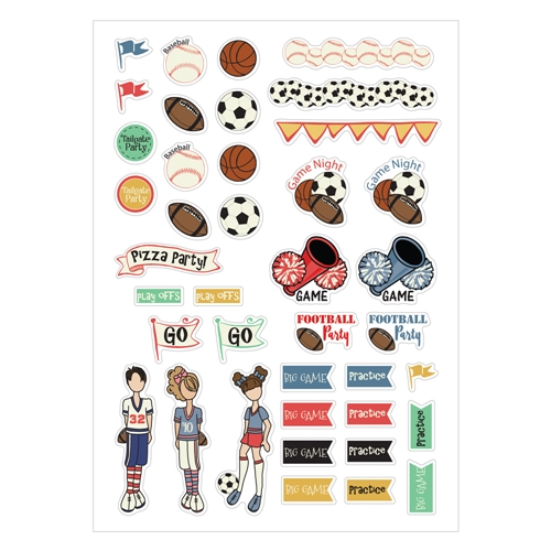 Prima Marketing SPORT STICKERS Julie Nutting Planner 911973 Preview Image