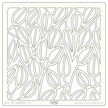 Claritystamp ENTANGLED LEAVES 7x7 Stencil STETR0040077