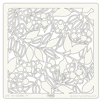 Claritystamp BERRIES AND LEAVES 7x7 Stencil STETR0039877