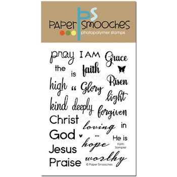 Paper Smooches FAITH SAMPLER Clear Stamps J3S288