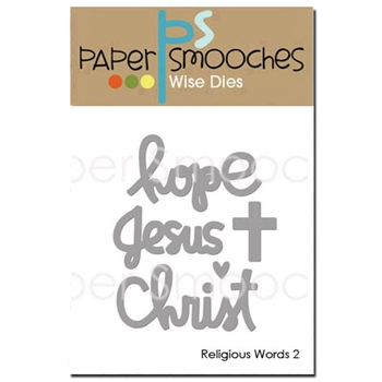 Paper Smooches RELIGIOUS WORDS 2 Wise Dies J3D399