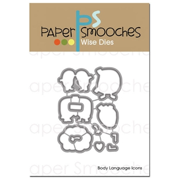 Paper Smooches BODY LANGUAGE ICONS Wise Dies J3D395