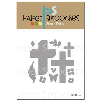 Paper Smooches 3D CROSS Wise Dies J3D394