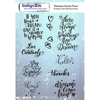 IndigoBlu Cling Stamp DREAMS COME TRUE Rubber IND0327*