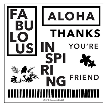Concord & 9th ALOHA FRIEND Clear Stamp Set 10226
