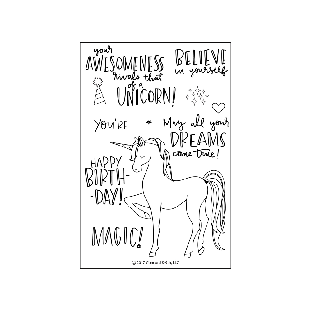 Concord & 9th UNICORN AWESOMENESS Clear Stamp Set 10230 zoom image