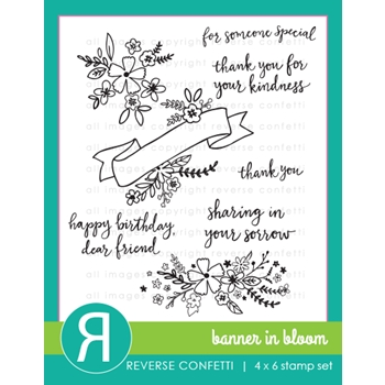 Reverse Confetti BANNER IN BLOOM Clear Stamp Set