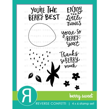Reverse Confetti BERRY SWEET Clear Stamp Set