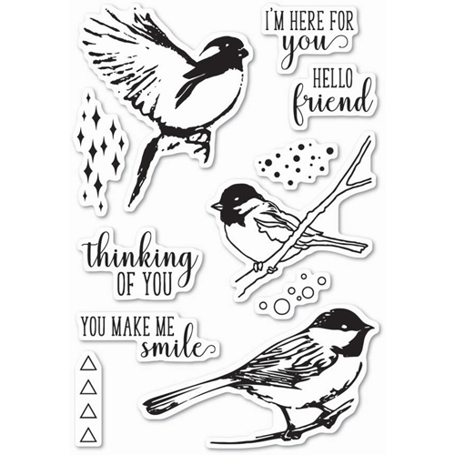 Memory Box Clear Stamps BIRD SANCTUARY Open Studio CL5201 Preview Image