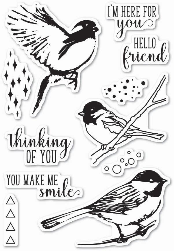 Memory Box Clear Stamps BIRD SANCTUARY Open Studio CL5201 zoom image