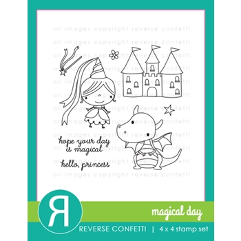 Reverse Confetti MAGICAL DAY Clear Stamp Set