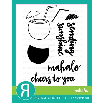 Reverse Confetti MAHALO Clear Stamp Set