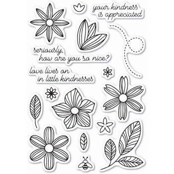 Memory Box Clear Stamps LITTLE KINDNESS POPPY STAMPS CL445