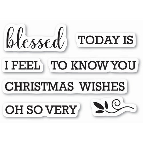 Memory Box Clear Stamps BLESSED TO KNOW YOU Open Studio CL5213 Preview Image